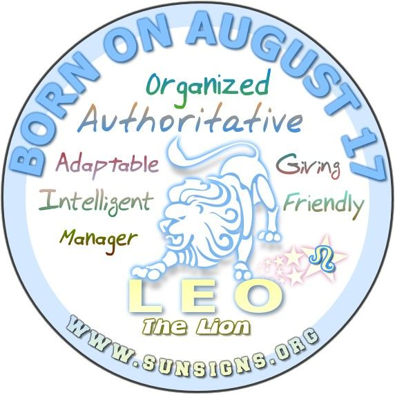 August 17 Birthday Horoscope Personality - Sun Signs