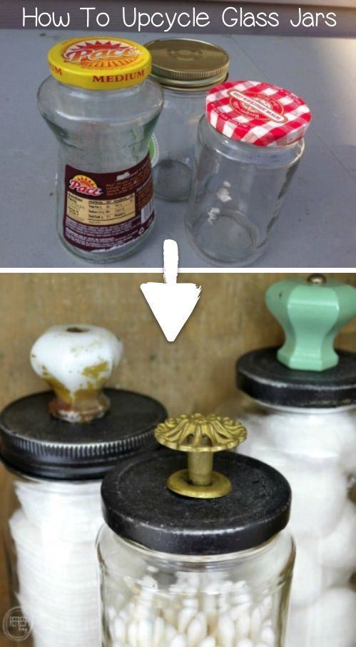 Save your food glasses! I love this recycling craft. #this # ...