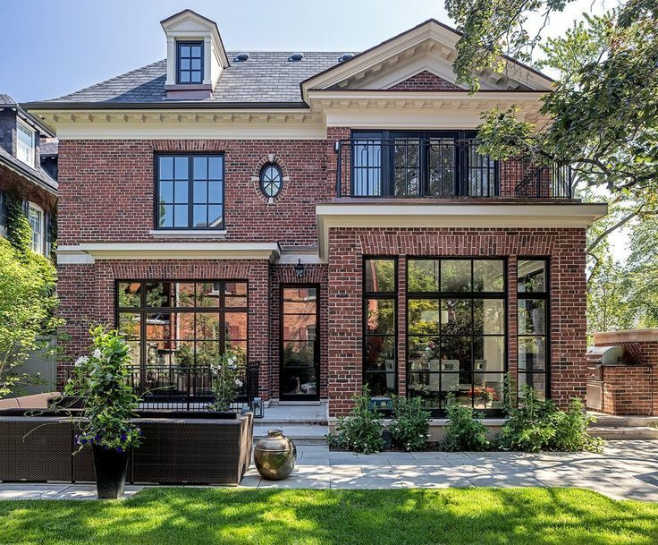 Classic transitional modern brick home with outdoor entertaining space | Check o