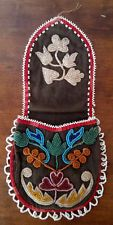 Antique 19th Cen Great Lakes Native American Beaded Bag Chippewa Ojibwa Indian