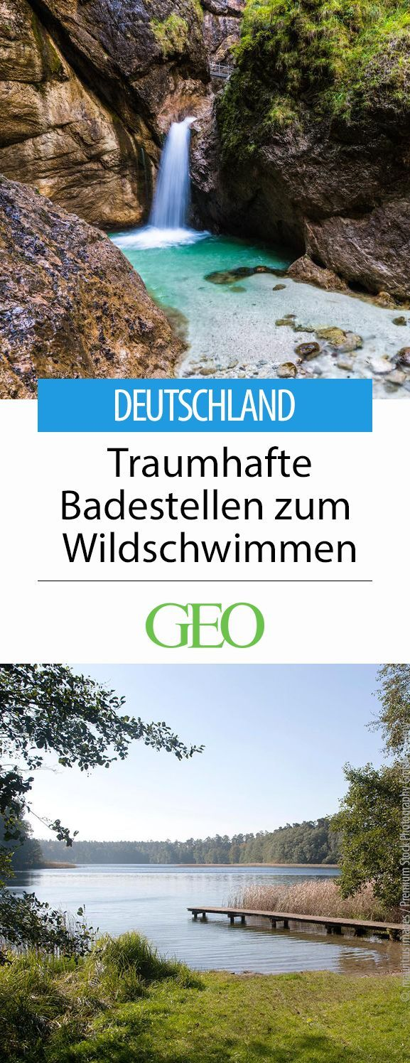 Bathing lakes and rivers for wild swimming in Germany. Fantastic spots for swimming