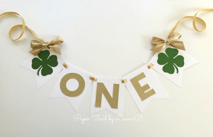 St. Patty's First Birthday High Chair Banner. ONE High | Etsy