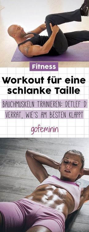 Workout for strong abs and a slim waist: Detlef D shows you, ...