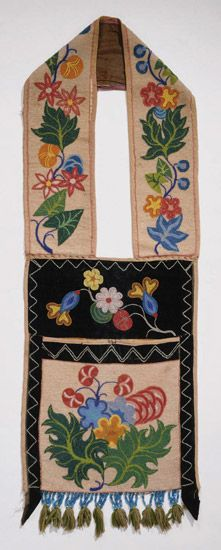 Late 19th century Ojibway (First Nations) Bandolier bag at the Philadelphia Muse...
