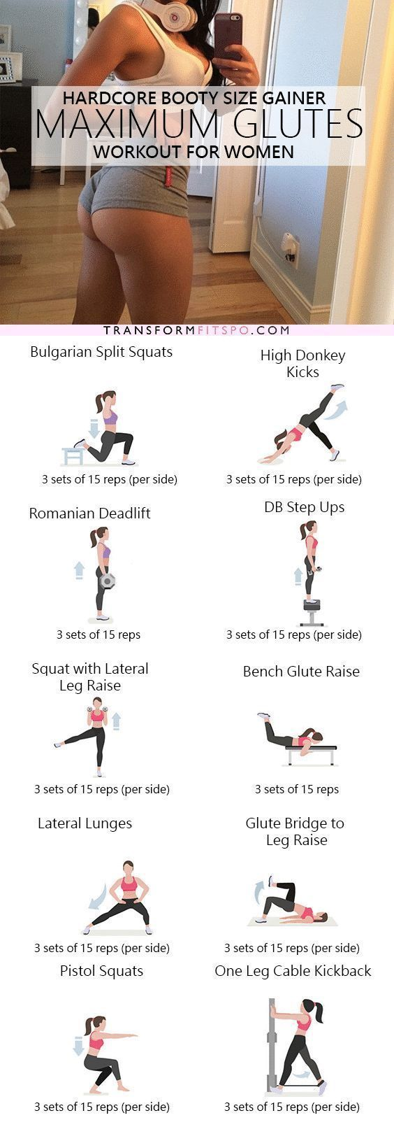 Repin and share if you also got crazy booty gains from this workout! Read the po...