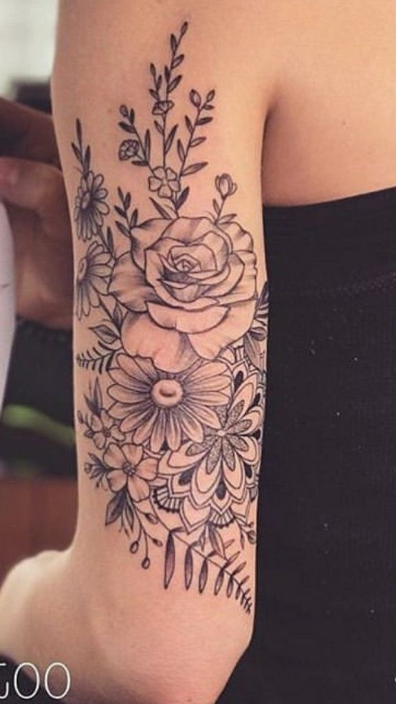 Beautiful floral tattoo drawing ideas for women 67 #flowertattoos #Tatt ...