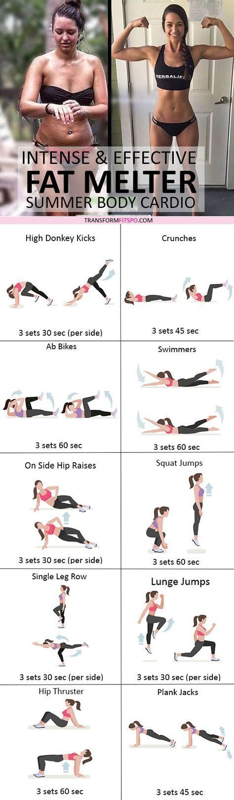 23 Intense Cardio Workouts To Get Rid Of Stubborn Belly Fat! - #belly #Cardio #f...