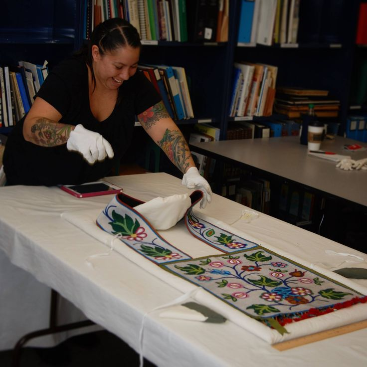 Jessica Gokey (Ojibwe), 2014: Beadwork artist at the Minnesota Historical Societ...