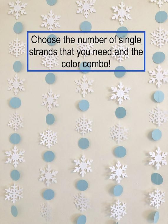 Winter Baby Shower Decorations , Snowflake banner , Blue and White Snowflake gar...