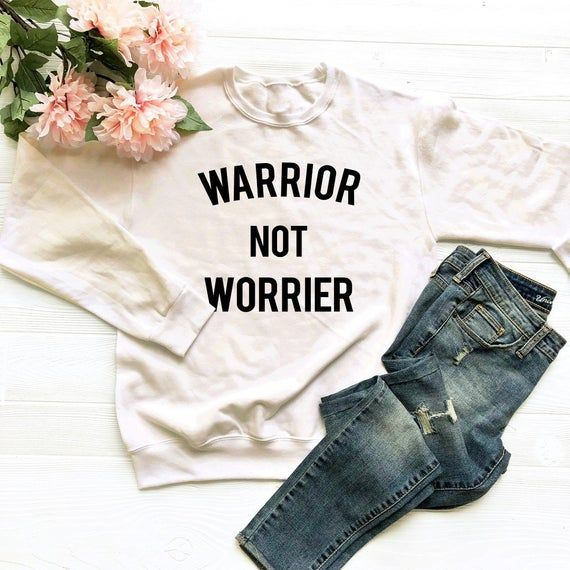 Warrior not worrier tshirt funny ladies tees shirt gifts for ladies fashion shir...