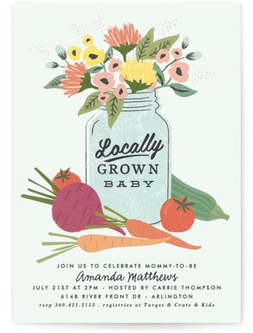 Baby Shower Invitations by Minted | farmers market Baby Shower | Baby And Kids
