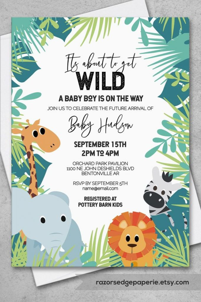 PRINTABLE Jungle Baby Shower Invitation Pack INSTANT DOWNLOAD | Etsy