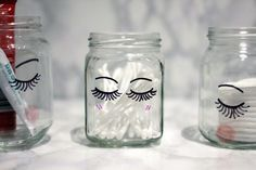 Add some little lashes to your jars so they can be as pretty as you are. | 16 DI...