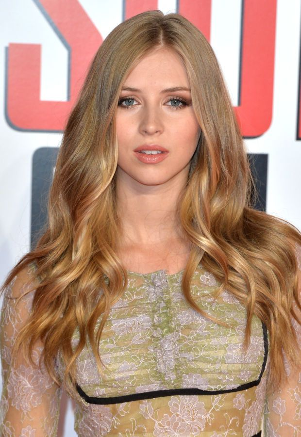 Hermione Corfield at the 2015 London premiere of 'Mission Impossible: Rogue Nati...