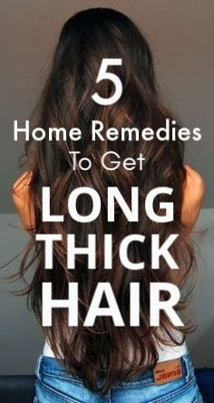 Top 5 Home Remedies to get long thick hair super fast #hair #haircare #haircaret...