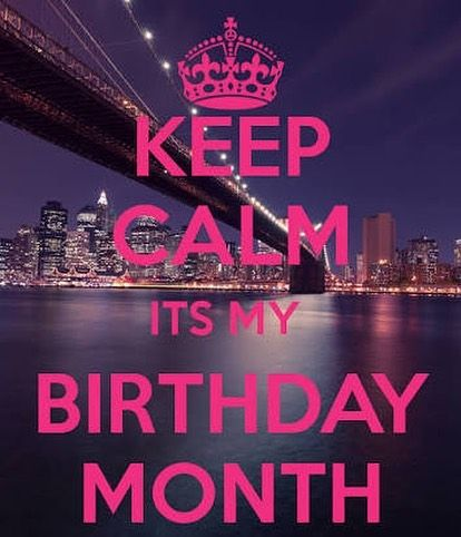 Cant keep calm its my birthday month 28 June !! #birthdamonth #june #celebration...