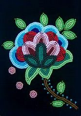 Image result for Ojibwe Floral Beadwork Patterns