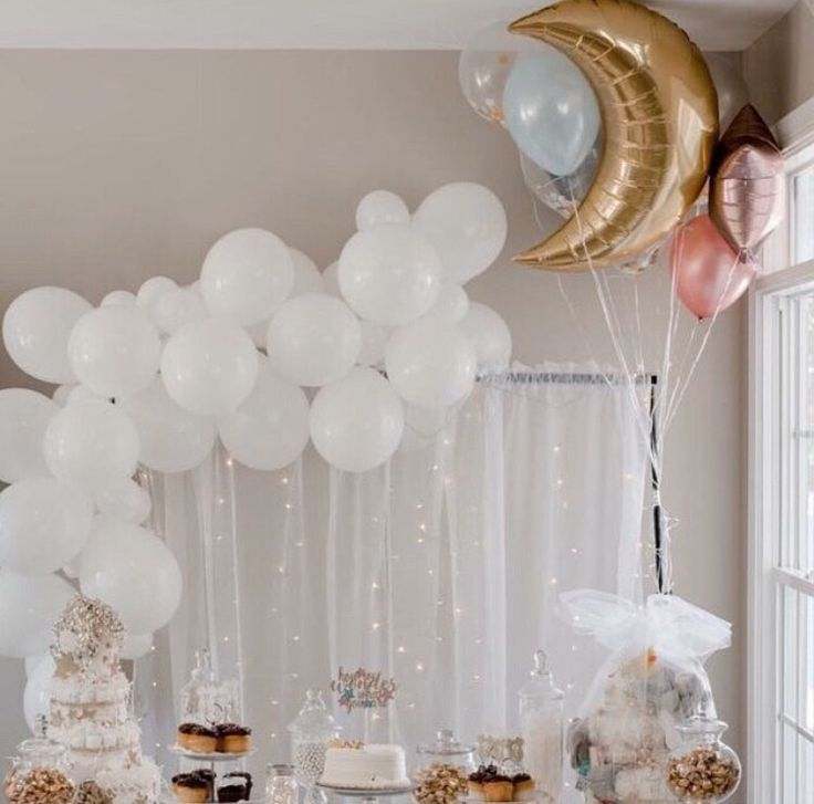 Twinkle Twinkle Little Star Baby Shower Balloons