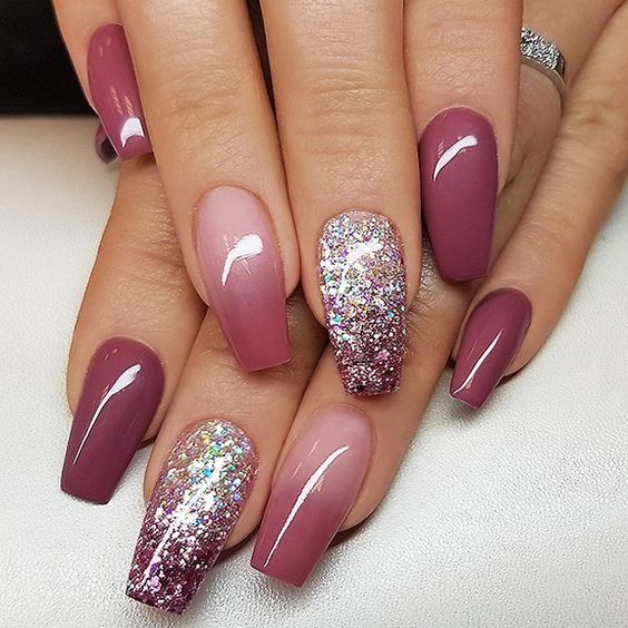 Beautiful Coffin Nail Designs that you want to try a #acrylic # uñas #gel ...