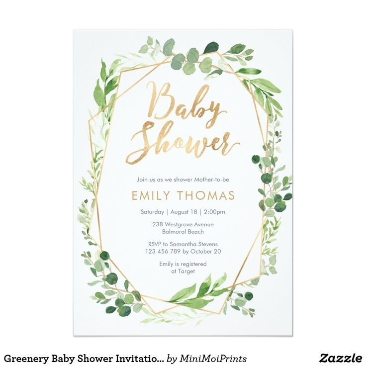 Green Baby Shower Invitation - Gender Neutral | Zazzle - Baby Shower - #