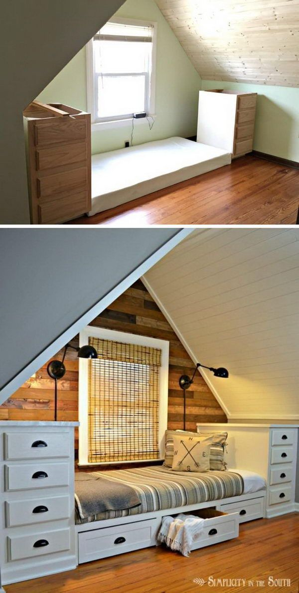 Turning your attic into a bed room is a terrific idea particularly for cottages....