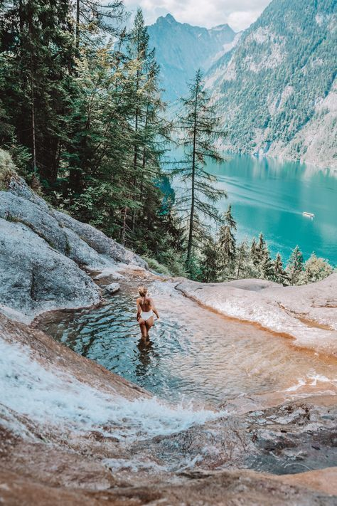 Königssee natural pool and waterfall path and the most beautiful places!
