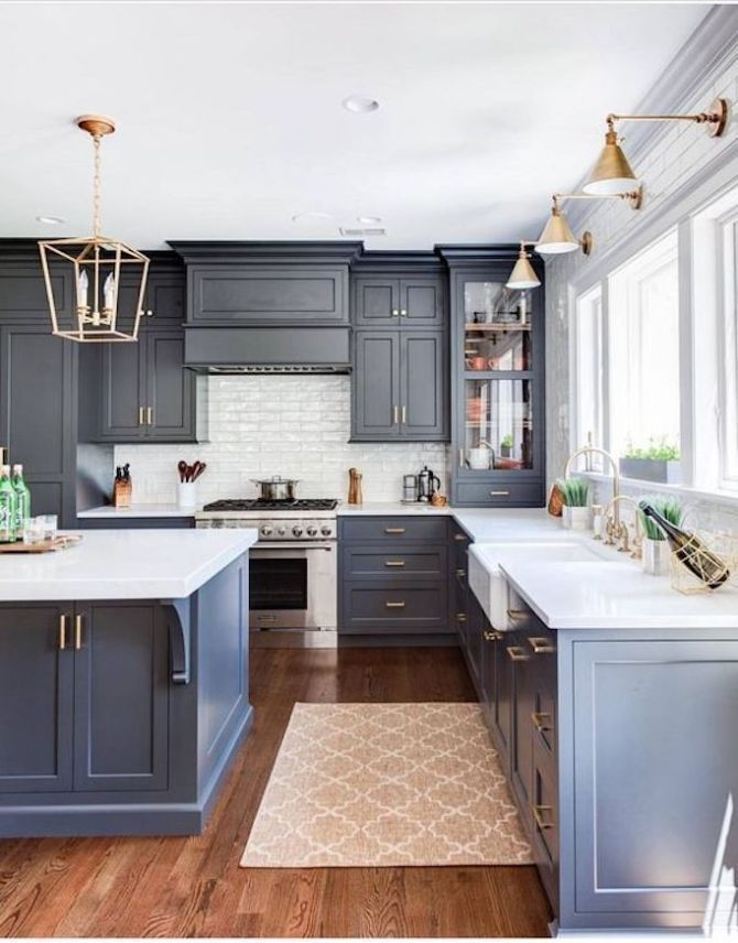 36 Best Beautiful Blue and White Kitchens to Love! - #Beautiful #Blue #kitchen #...