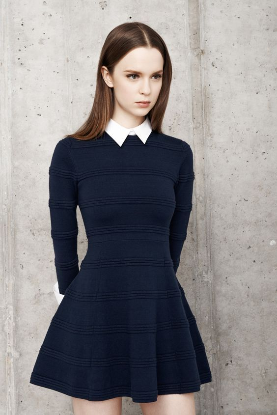 Ladies Fashion | Cute Navy Little Spring Dress #women's fashion #fruehlingskleid #ma ...