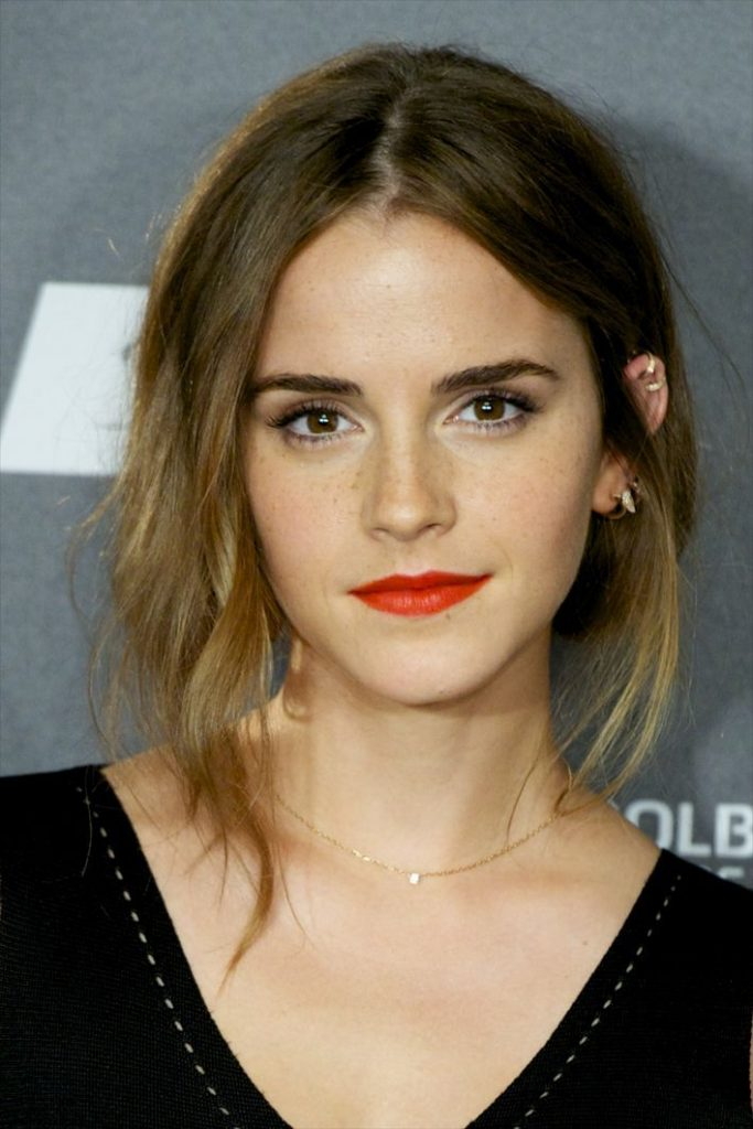 Less is more: Emma Watson is our beauty crush of the day.