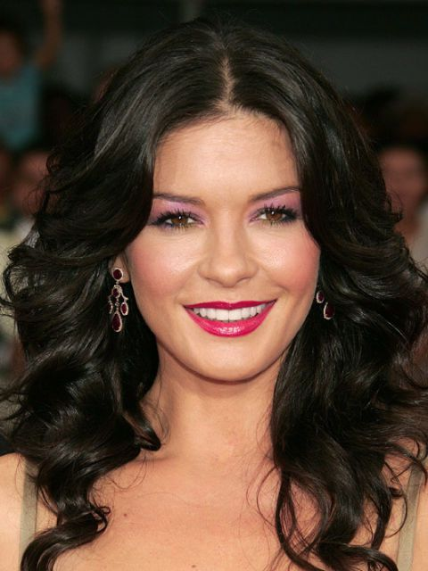 The Look: Purple Eyeshadow Catherine Zeta-Jones, 2005 | Classic Celebrity Makeup...