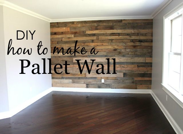 How to Make a Pallet Wall {tutorial by Project Nursery} #DIY #palletwall #accent...