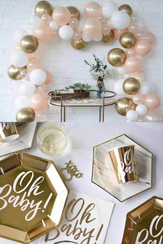Rose Gold Baby Shower Themes - OH BABY SHOWER! Plus mint!