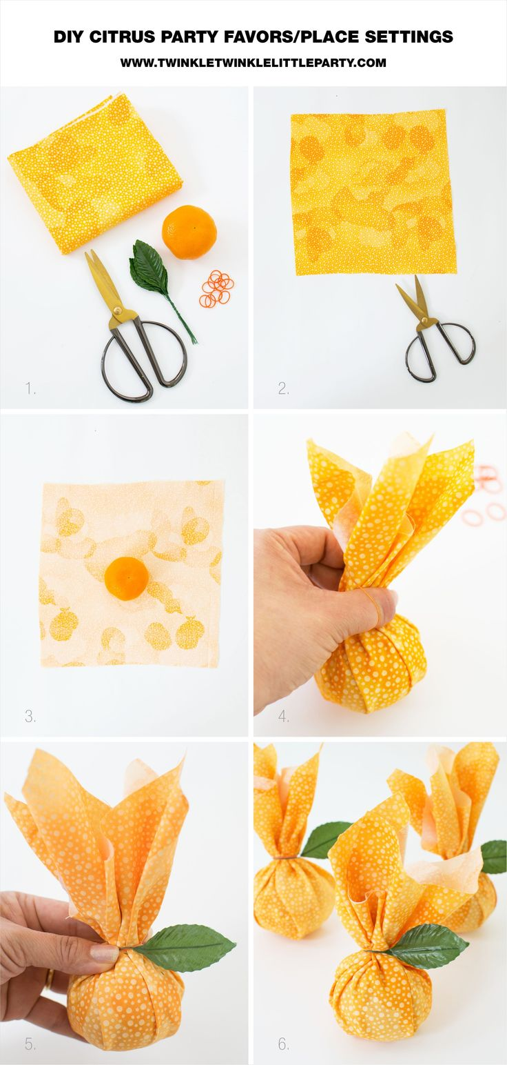 DIY Citrus Baby Shower Favors for a summer baby shower