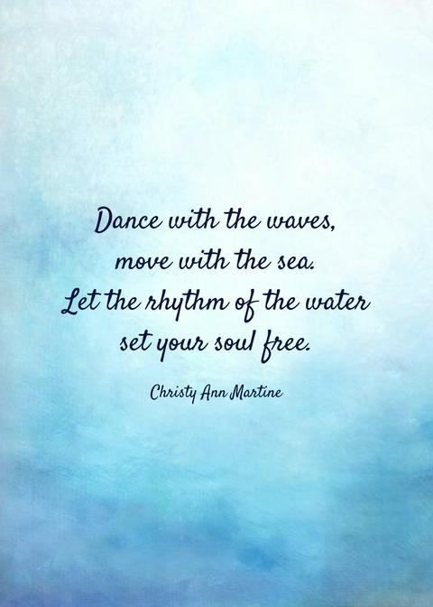 Dance with the waves, move with the sea. Let the rhythm of the water set your so...