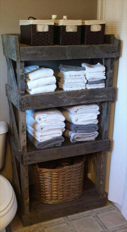 Bathroom organizer - 50 Decorative Rustic Storage Projects For a Beautifully Org...