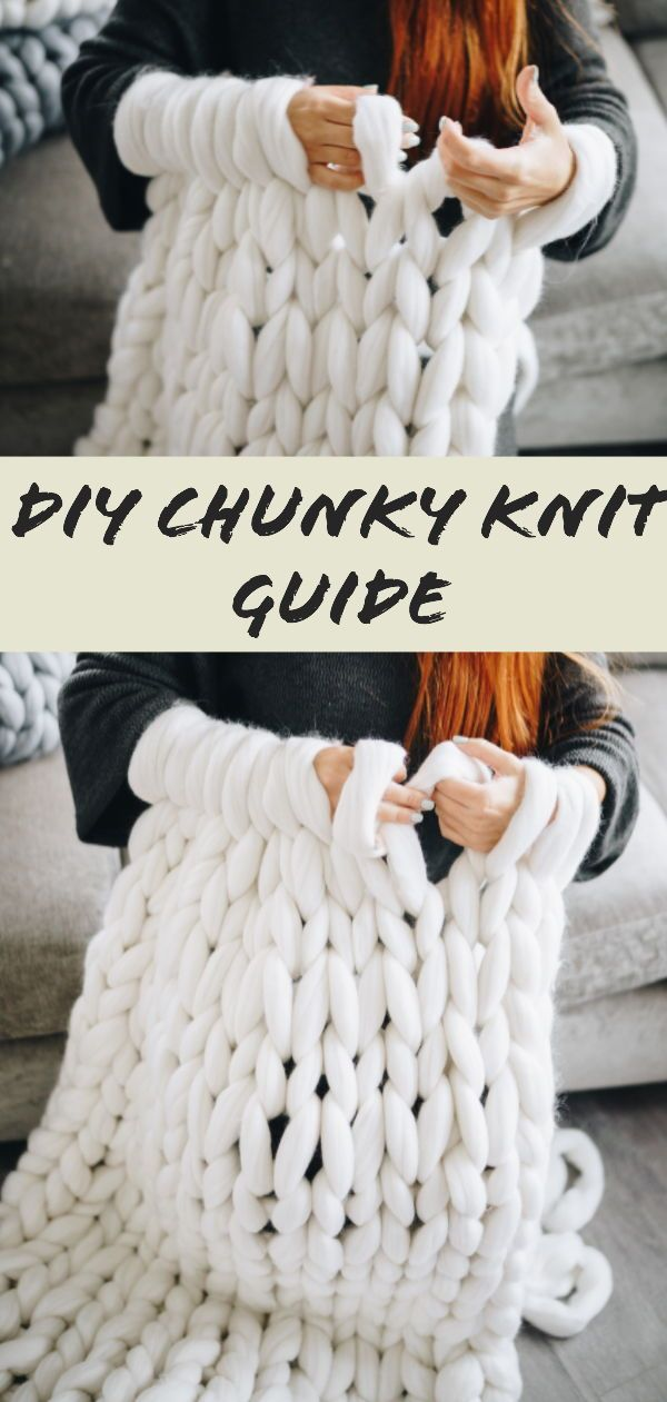 How to Make a Coarse Knitted Blanket - Beginner's Guide #start ...