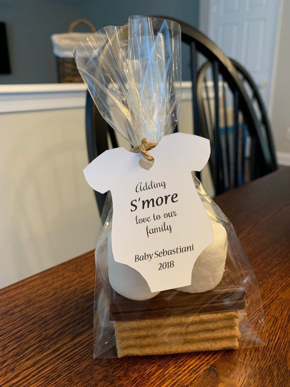 Adding S'MORE Love to Our Family Tags, S'more Baby shower favor tags, TAGS ONLY ...