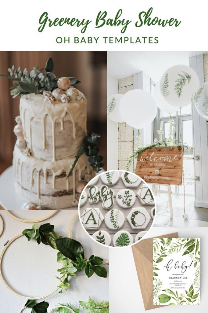 Greenery Baby Shower, DIY Baby Shower, Baby Shower Ideas, Greenery oh baby baby ...