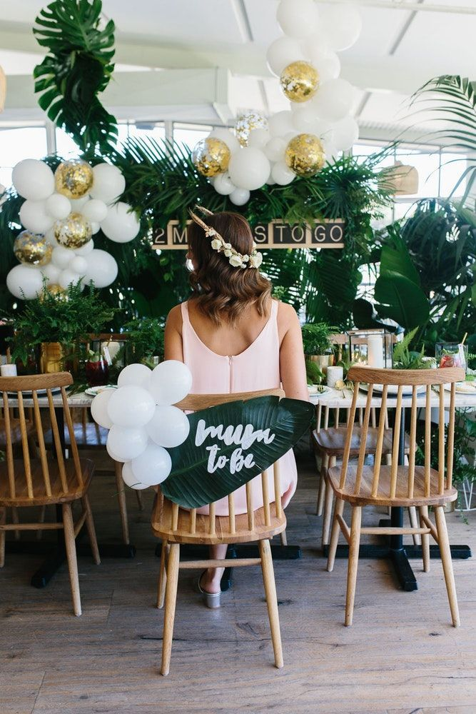 Lush Greenery Baby Shower - Tropical Baby Shower | It proved to be a perfect cho...