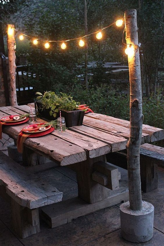 Welcome Warmer Weather With These Patio String Light Ideas A little bit of illum...