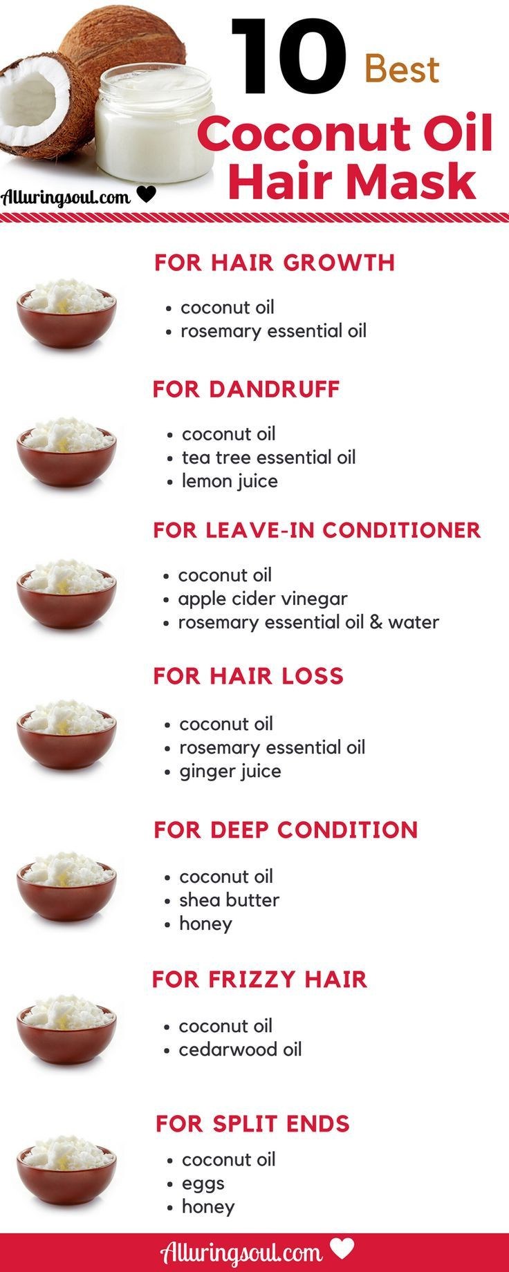 Coconut Oil is the best oil to grow beautiful, stronger and longer hair. Try the...