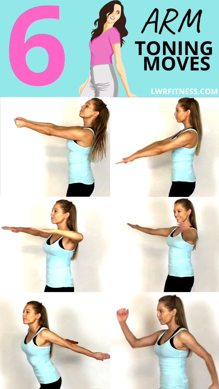 ARM WORKOUT FOR WOMEN - no weight, no equipment arm training to protect the arm ...