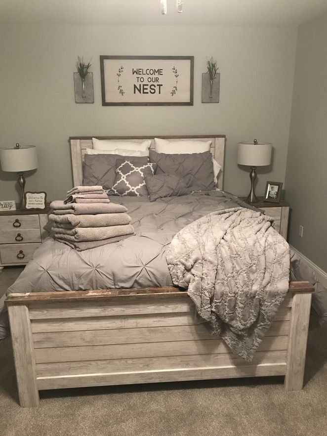 44 Best Farmhouse Bedroom Furniture Design Ideas And Decor | Justaddblog.com #fa...