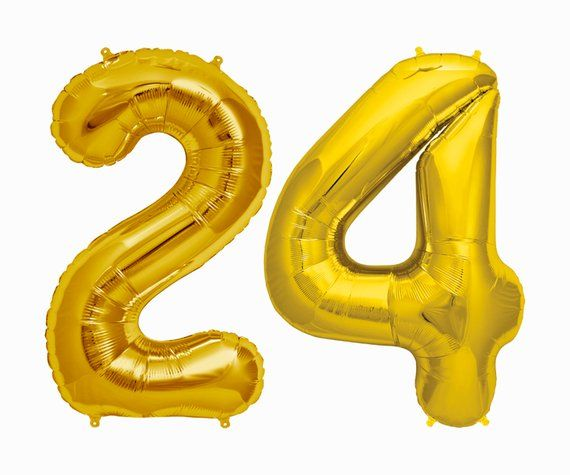 24 Balloons || 24th birthday party decorations jumbo letter balloon cheers to 24...