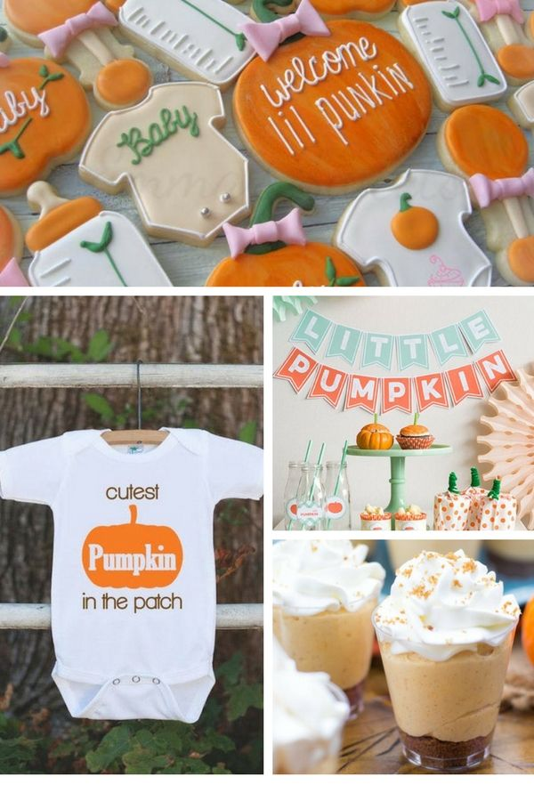 Little Pumpkin Baby Shower | 10 Unique and Interesting Baby Shower Themes | Kate...