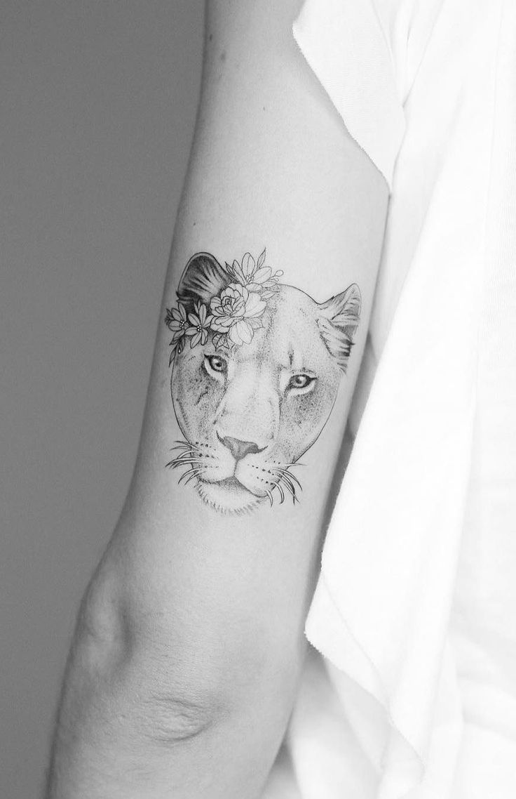 awesome lioness tattoo design for women © tattoo artist Seventh Day Studio ❤...
