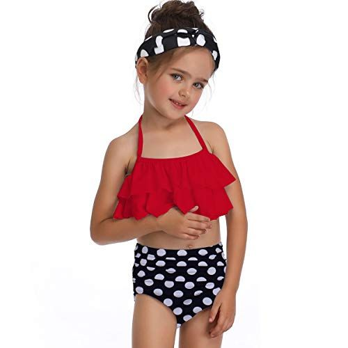 $14.99Girls two piece tankini swimsuit red