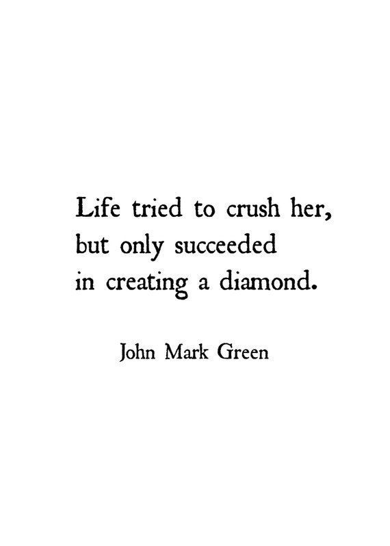 Women Quotes - Inspirational Wall Decor - Quotes - Life Tried To Crush Her Diamo...