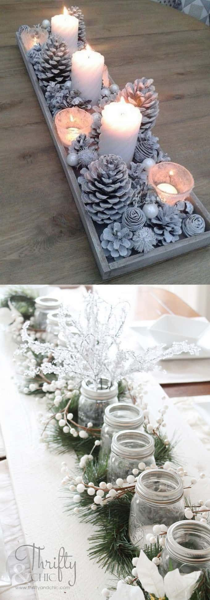 27 Gorgeous & Easy DIY Thanksgiving and Christmas Table Decoration & Ce ...