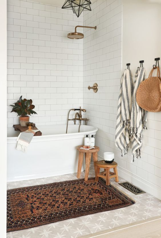 simple ideas for the bathroom decor. Boho Chic Bathroom Design. - #bath #bath #boho ...